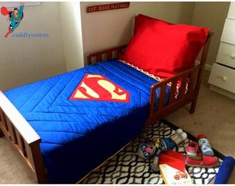 Handmade Superman Bedding Etsy