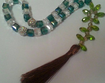 Crystal tasbih masbaha subha islam handmade fancy sparkling gift
