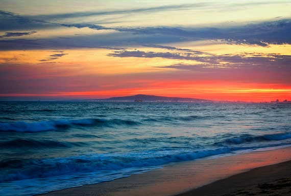 Huntington Beach Wall Decor : Huntington beach sunset wall art by