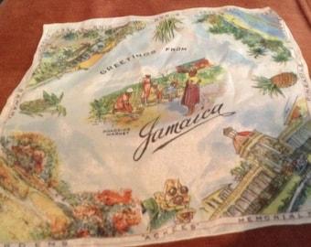Vintage handkerchief Jamaica