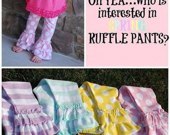 SALE!!!!!   Spring Ruffle Pants!!