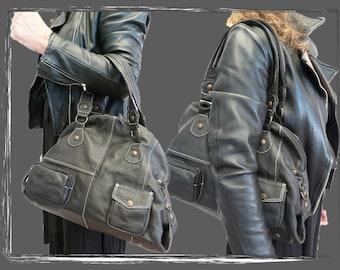 "mon ""Ashley"" *handbag  *leather    *satchel"