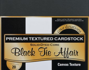 Core'dinations Cardstock Pack. 12x12 Black tie Affair