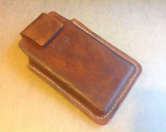 Leather cell phone Holster Custom made to order