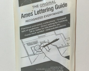 The Original Ames LETTERING GUIDE