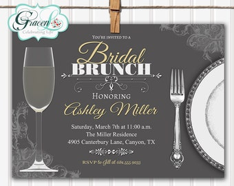 Bridal Luncheon Invitation, Bridal Brunch Invitation, Bridal Shower Invitation, Bridesmaid Luncheon Invitation, Bridesmaids Brunch