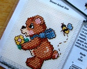 Stung Bear Stitch N Hang Busy Bees Counted Cross Stitch Ornament Kit