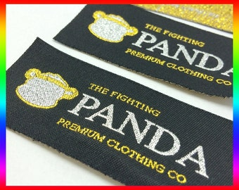300 Custom cloth label for clothing, cloth label sew on, clothes label maker