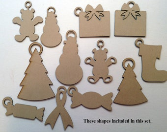 Laser patterns for marketing, balloon weights, Christmas ornaments, and tags