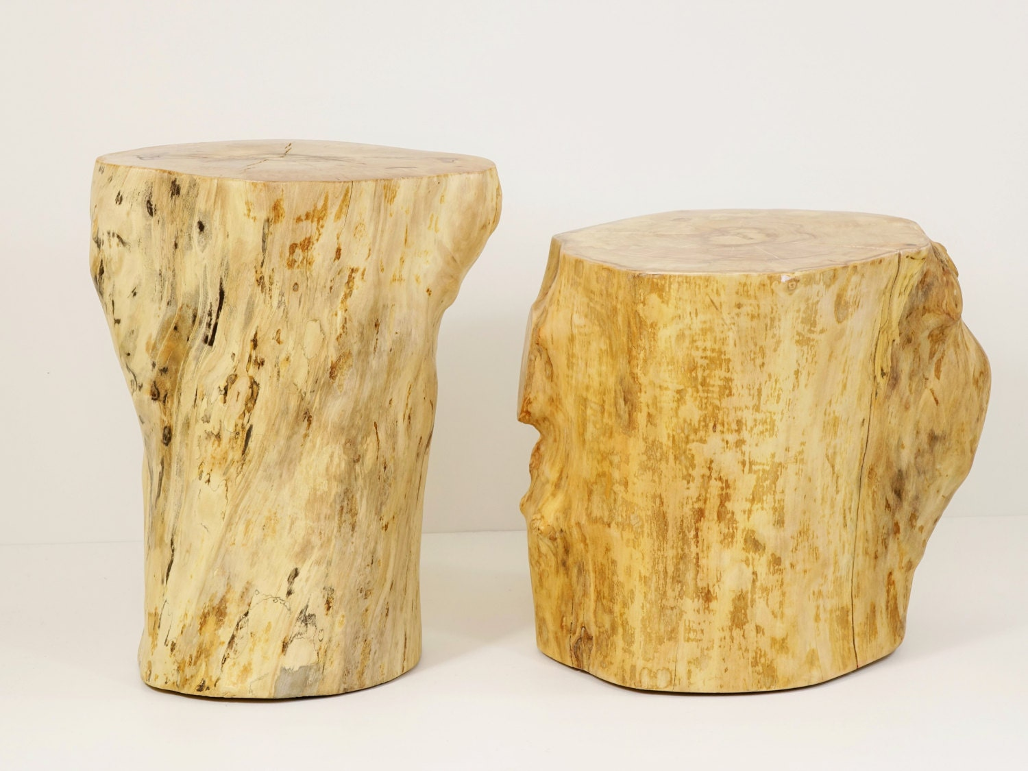 wood stump stool clone tree trunk bedside stump table. Black Bedroom Furniture Sets. Home Design Ideas