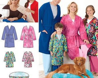Learn to Sew Child's Teen's & Adults' Robe Simplicity Pattern 1946