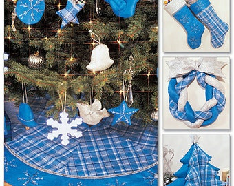 McCall's Sewing Pattern M3777 Christmas Decorations, Wreath, Ornaments, Stockings and Tree Skirt