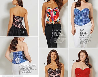 Simplicity Sewing Pattern 1183 Misses' and Plus Size Corsets