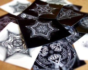 Mixed Sacred Geometry Sticker Pack (14 Stickers)