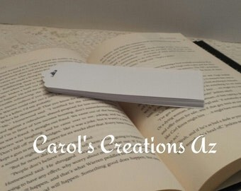 24 Paper Bookmarks / 24 Unlaminated Bookmarks / Arts and Craft Project / Children's Craft Project  / White Plain Bookmarks / Teachers Supply