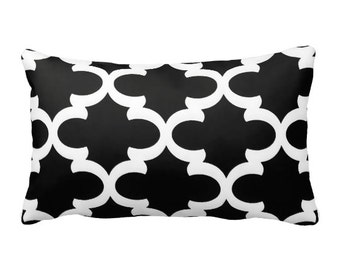 7 Sizes Available: Black Cushion Covers Black Sofa Pillows Black Pillow Moroccan Pillow 20x20 pillow 12x24 Pillow Lumbar Pillow