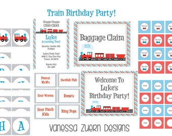 Printable Train Party Package