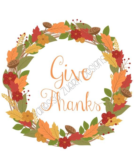Give Thanks Printable Sign