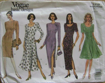 VINTAGE Vogue Pattern 1119 Misses' Dress