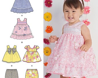 Simplicity Pattern 1471 Babies Dress, Top and Bloomers