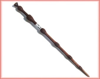 Cedric diggory 39 s wand fully hand carved ash wood no for Wooden elder wand