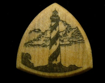 Wooden Guitar Pick St Augustine Lighthouse