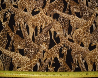GIRAFFE fabric 100% cotton by the yard from fabri-quilt free shipping