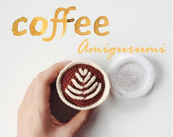 Coffee Takeout Amigurumi Crochet Pattern PDF
