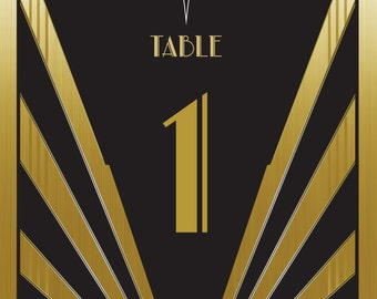 Great Gatsby Table Numbers Digital | Wedding | Birthday | Celebration | Party