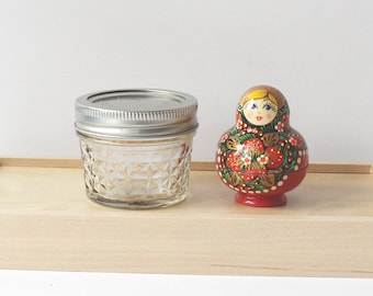 Small Quilted Mason Jar 120 ml 4 oz