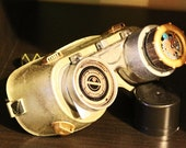 Steampunk Goggles with asymmetric scopes