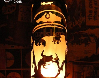 Lemmy Kilmister Beer Can Lantern: Motorhead, Hawkwind Pop Art Portrait Lamp  - Unique Gift!
