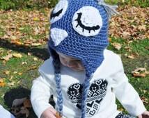 BurkeyBaby Sleeping Owl Earflap Hat