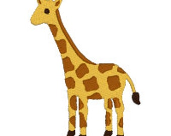 BUY 2, GET 1 FREE - Filled GIraffe Machine Embroidery Design in 3 Sizes