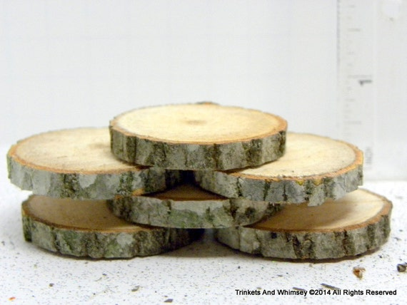 Items similar to wood pieces miniature tree slices