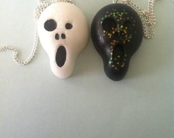 SALE**ghost face necklace!