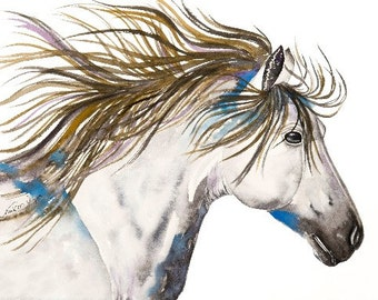 White Horse 8x10 Giclee Print