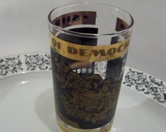 South Dakota Glass Souvenir Vintage State