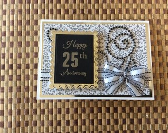 Handmade Greeting Cards: 25th Anniversary Card.