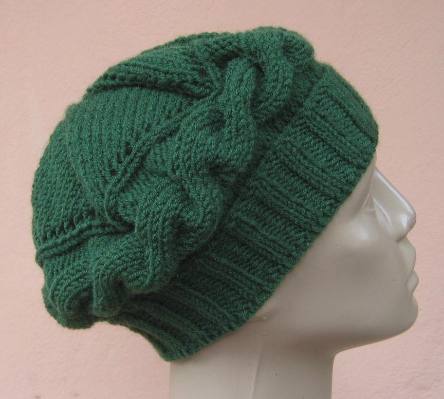 knit hats green beret for womens cable knit beanie