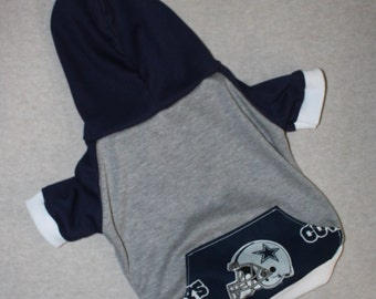 Dallas Cowboys Dog Hoodie / Personalization Available!