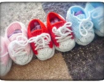 """Tutorial patucos bebe crochet """"Converse"""""""