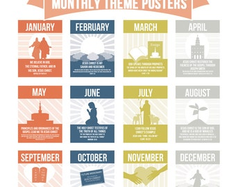 LDS Primary 2015 Monthly Theme Posters
