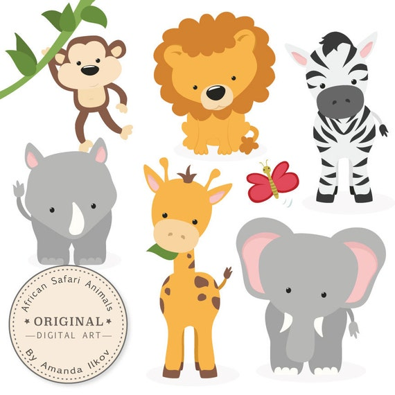Baby Safari Animals Clip Art | www.pixshark.com - Images ...