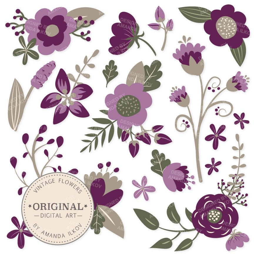 premium plum floral clipart amp flower vectors plum flowers
