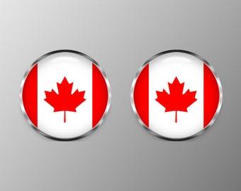 Canadian Flag Cufflinks,  Cuff Links, C0119