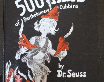 """The Vanguard Press 1938 Hardcover 1st Edition of """"The 500 Hats of Bartholomew Cubbins"""" by Dr. Seuss"""