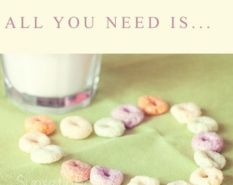 Heart print-colorful cereals Photography-kitchen Decoration