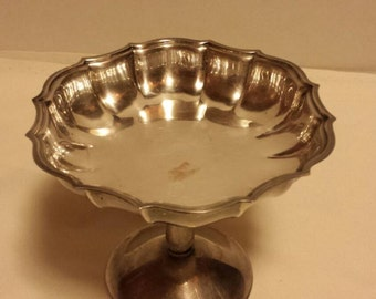 Chippendale silver company silver candy dish.