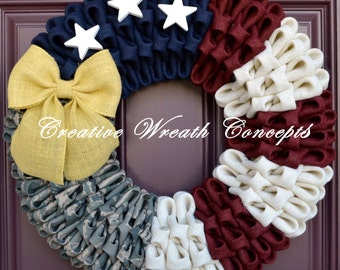 Rustic Patriotic U.S. Air Force Wreath